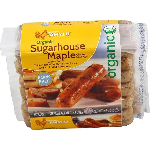 Organic Chicken Sausage  Costco Amy Lu Organic Sugarhouse Maple Chicken Sausage