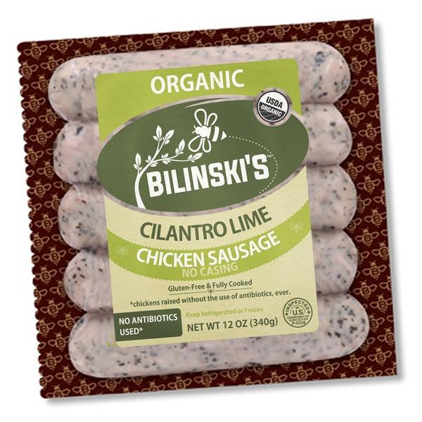 Organic Chicken Sausage  Bilinski s Sausage Organic Chicken Sausage Cilantro Lime