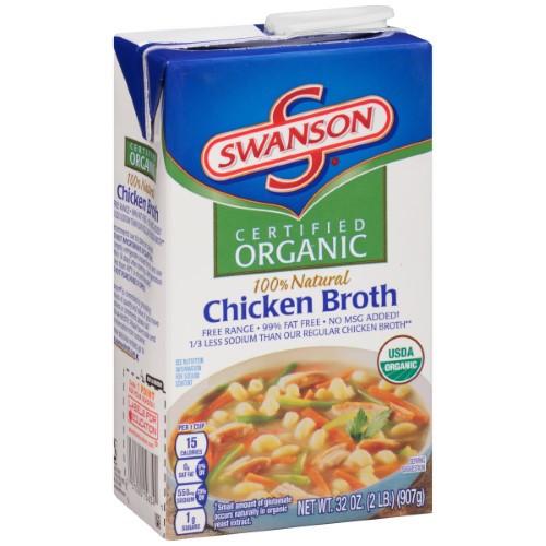 Organic Chicken Soup  Swanson Organic Chicken Broth 32 Ounce Cartons