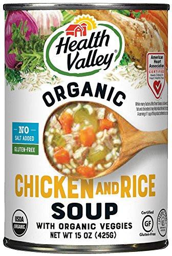 Organic Chicken Soup  Health Valley Organic No Salt Added Soup Chicken Rice 15