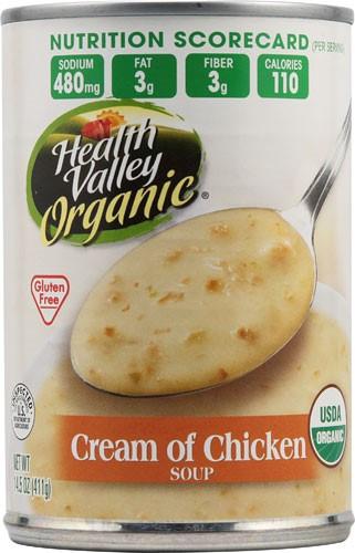 Organic Chicken Soup  Jet Health Valley Organic Soup Cream of Chicken 14
