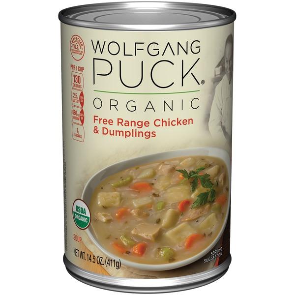 Organic Chicken Soup  Wolfgang Puck Chicken & Dumplings Organic Soup from Whole
