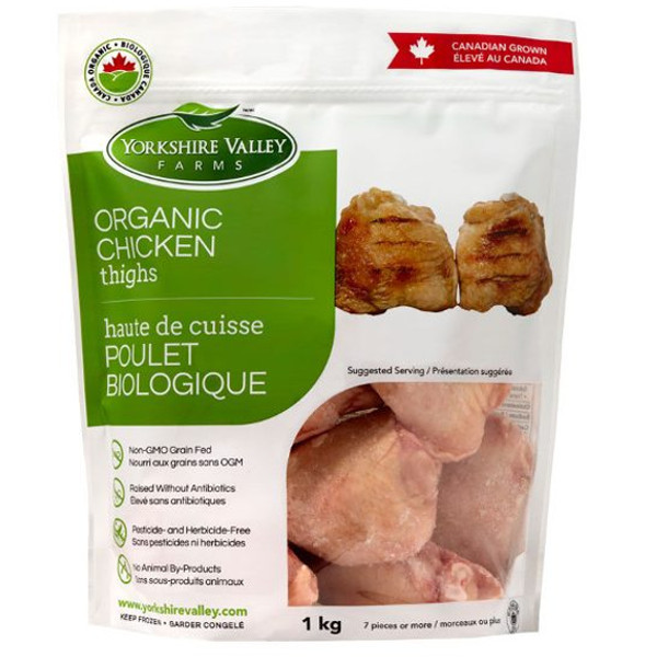 Organic Chicken Thighs  Yorkshire Valley Farms Organic Chicken Thighs 1 Kg