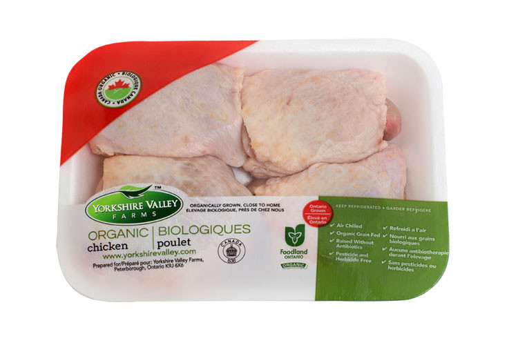 Organic Chicken Thighs  Yorkshire Valley Farms Organic Chicken Thighs Bone In