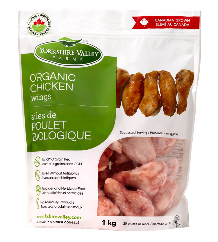 Organic Chicken Wings  Yorkshire Valley Farms Organic Chicken Wings 1 kg