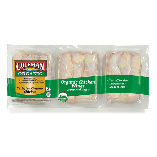Organic Chicken Wings  COLEMAN ORGANIC Chicken Wings Party Pack