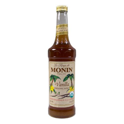Organic Coffee Syrups  Monin Organic Vanilla Syrup 750 mL Free Shipping Over