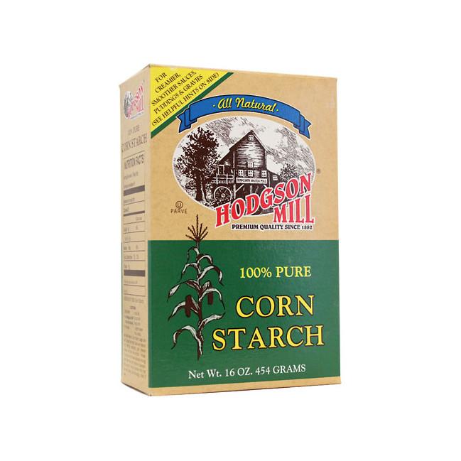 Organic Corn Starch  Hodgson Mill Pure Corn Starch 16 oz Box Swanson Health