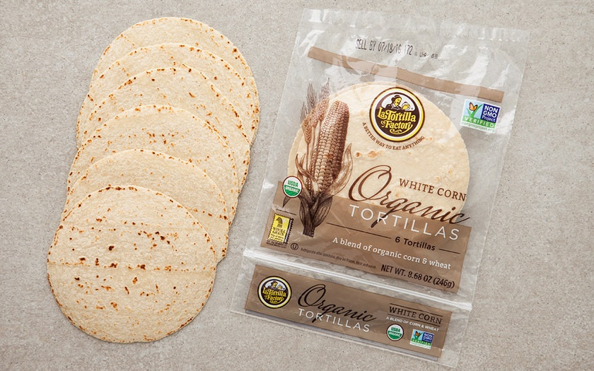Organic Corn Tortillas  Organic White Corn & Wheat Tortillas La Tortilla Factory