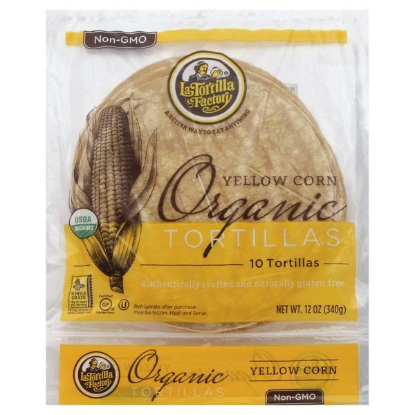 Organic Corn Tortillas  La Tortilla Factory Tortillas Organic Yellow Corn 10 00
