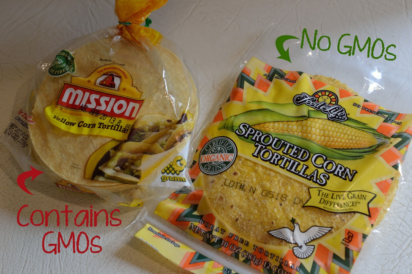 Organic Corn Tortillas  Ashley s Green Life How We Say NO to GMOs