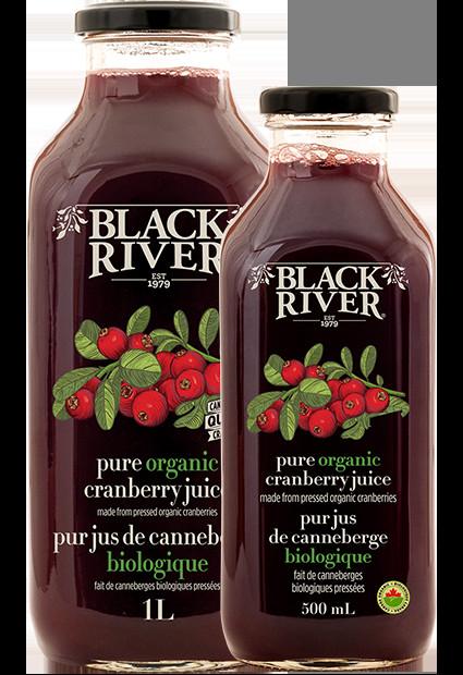 Organic Cranberry Juice  Spritzers & Juices Black River Juice