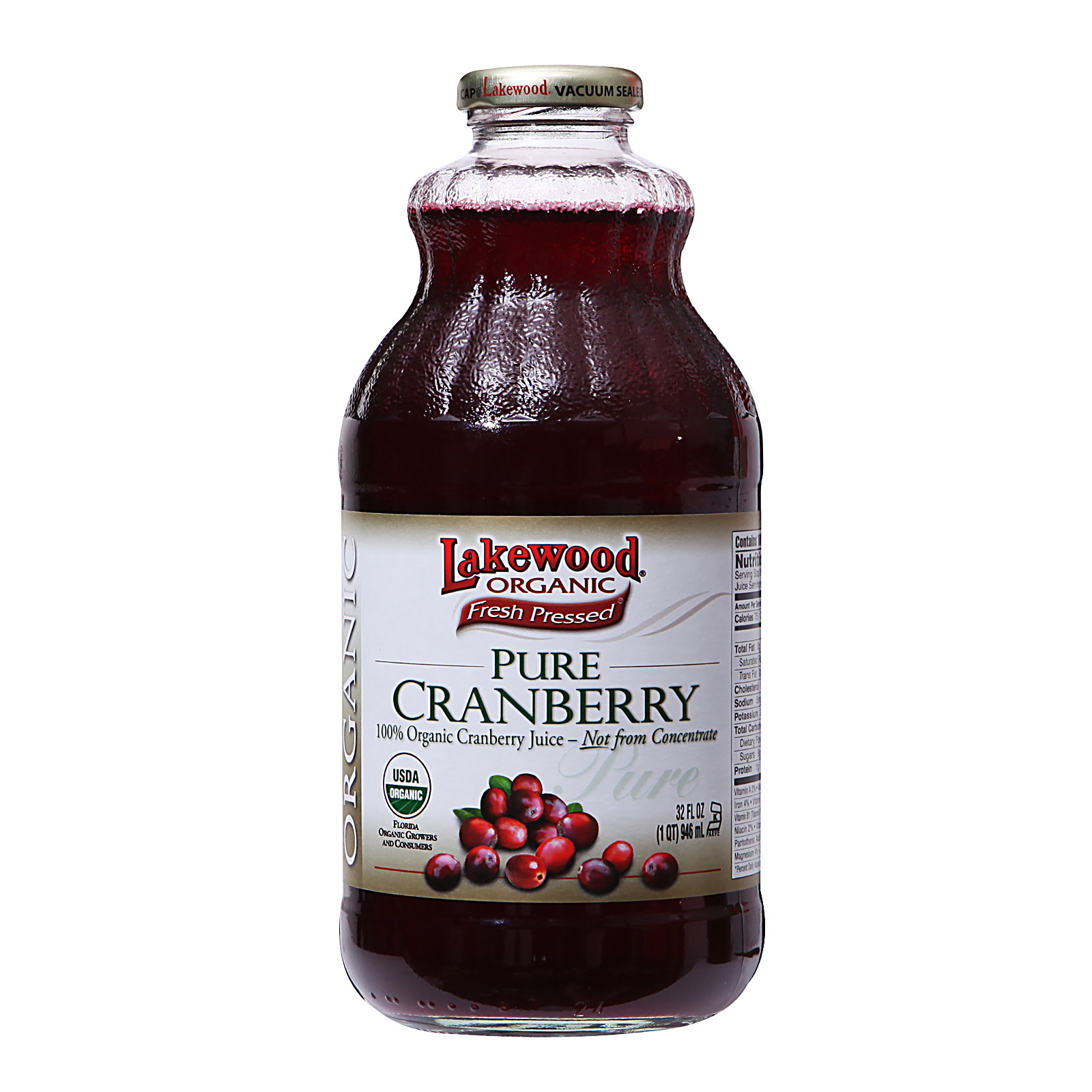 Organic Cranberry Juice  Lakewood Organic Pure Cranberry 0 from RedMart