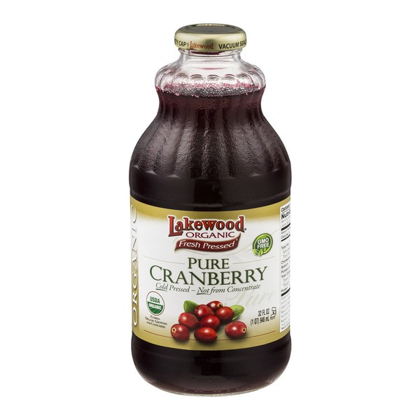 Organic Cranberry Juice  Lakewood Organic Fresh Pressed Pure Cranberry Juice from