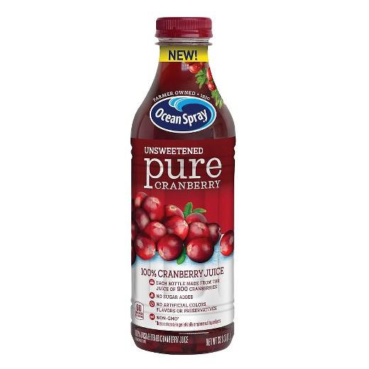 Organic Cranberry Juice  Ocean Spray Pure Cranberry Juice 33 8 fl oz Bottle