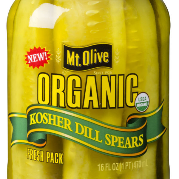 Organic Dill Pickles  Organic Kosher Dill Spears Mt Olive Pickles