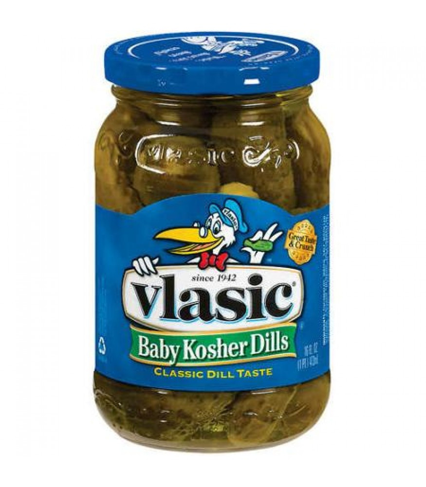 Organic Dill Pickles  Vlasic Whole Hamburger Baby Dill Pickle Spears 16oz 473ml