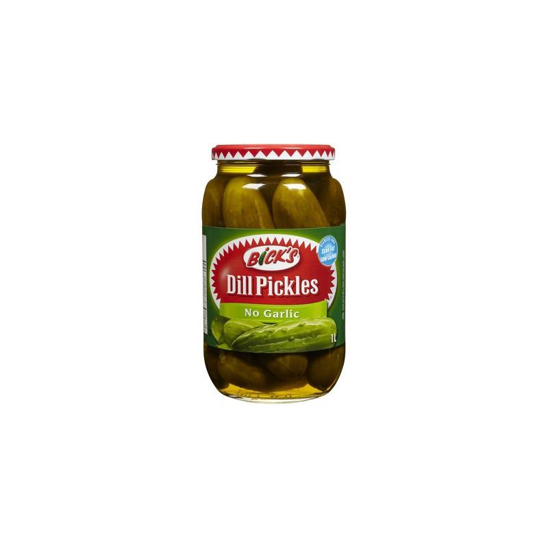 Organic Dill Pickles  Bicks Whole Dill Pickles No Garlic 1 Litres