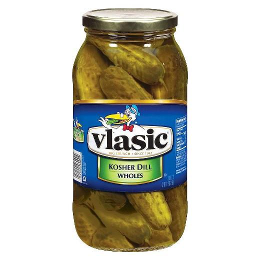 Organic Dill Pickles  Vlasic Whole Kosher Dill Pickles 80 oz Tar