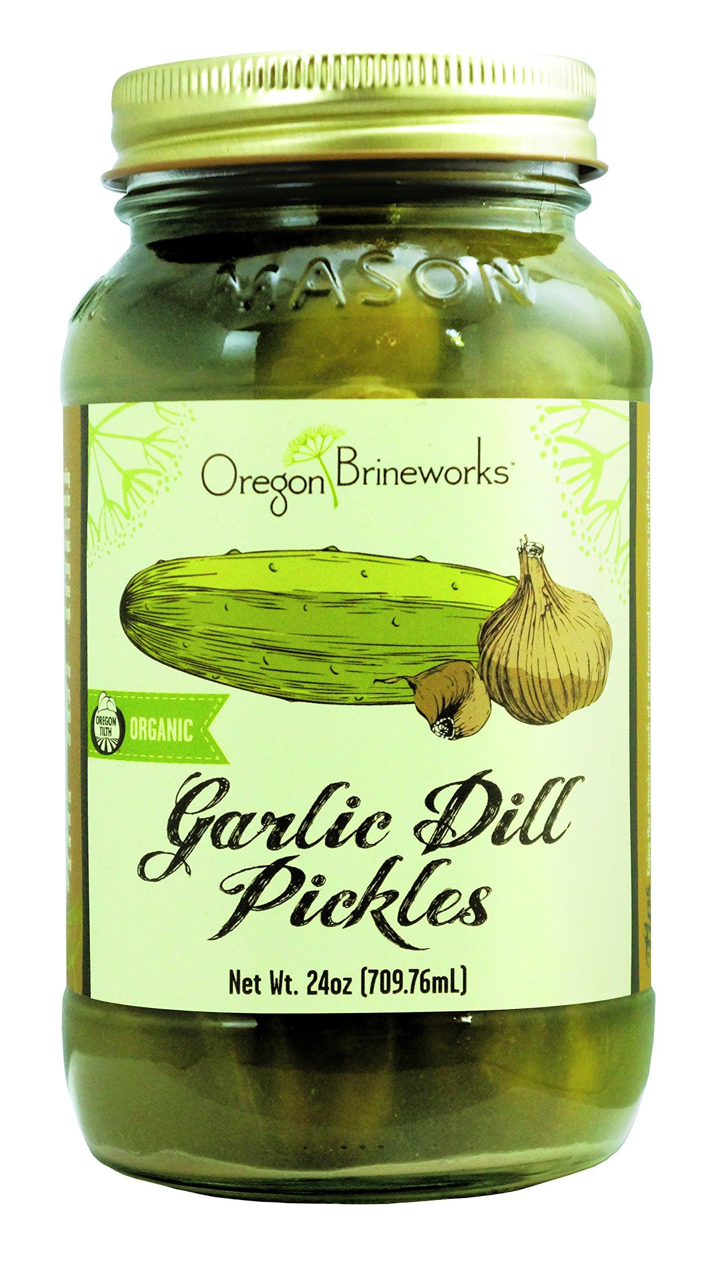 Organic Dill Pickles  Amazon GOLD MINE ORGANIC RAW SAUERKRAUT 16 OZ