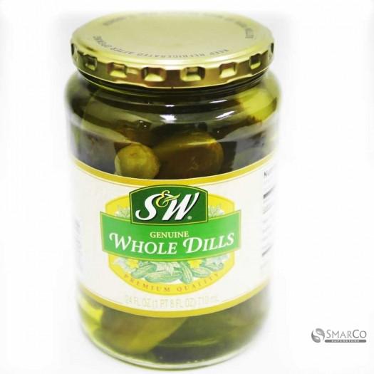 Organic Dill Pickles  Detil produk S&W WHOLE DILL PICKLES PCS 22 OZ