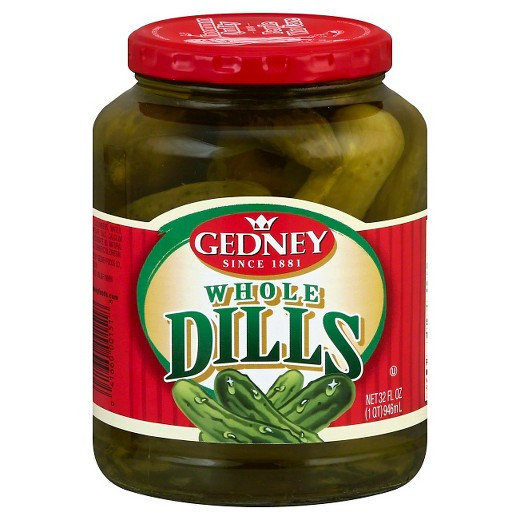 Organic Dill Pickles  Gedney Whole Dill Pickles 32oz Tar