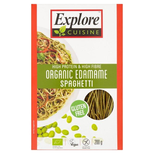 Organic Edamame Spaghetti  Explore Asian Gluten Free & Organic Edamame Spaghetti 200g