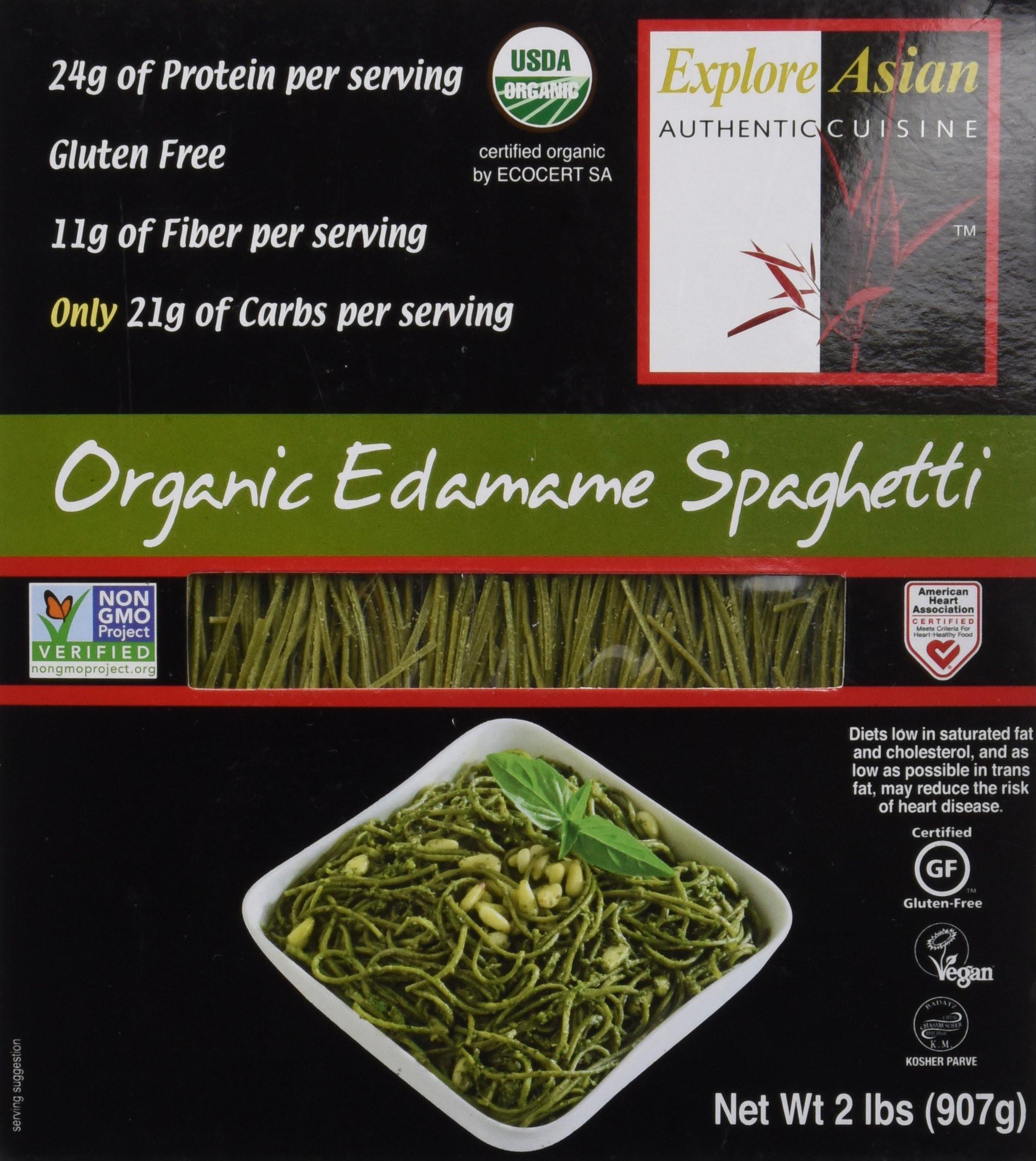Organic Edamame Spaghetti  2 pound box 18 servings Gluten free vegan kosher