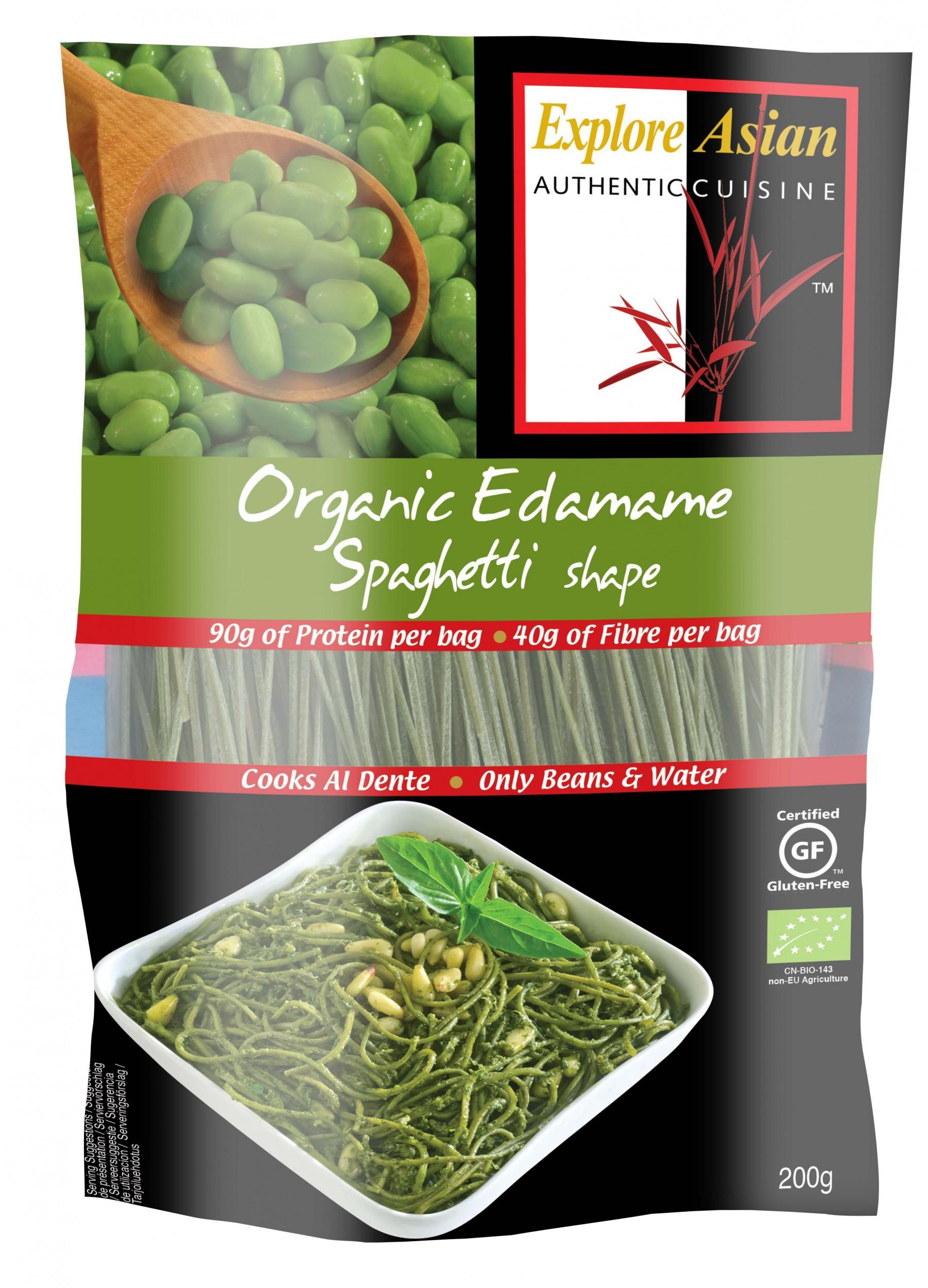 Organic Edamame Spaghetti  Explore Asian Organic Edamame Spaghetti 200g