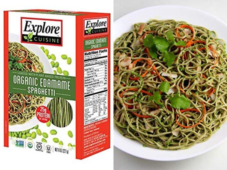 Organic Edamame Spaghetti  People say edamame spaghetti tastes just like the real