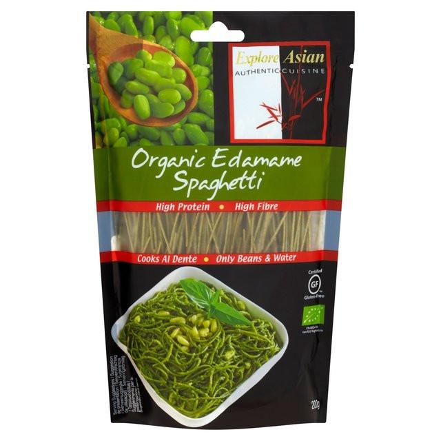 Organic Edamame Spaghetti  Explore Asian Organic Edamame Spaghetti 200g – V delivery