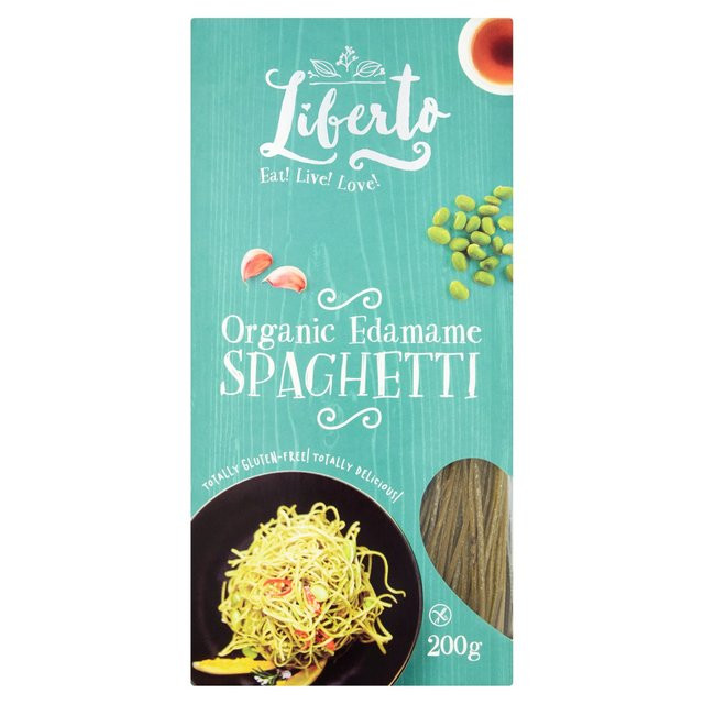 Organic Edamame Spaghetti  Liberto Gluten Free Organic Edamame Spaghetti 200g from Ocado