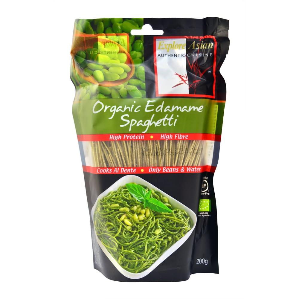 Organic Edamame Spaghetti  Explore Asian's Organic Edamame Spaghetti 200g