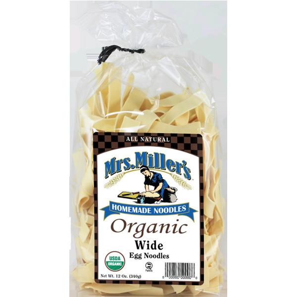 Organic Egg Noodles  Organic Wide — Mrs Miller s Homemade Noodles
