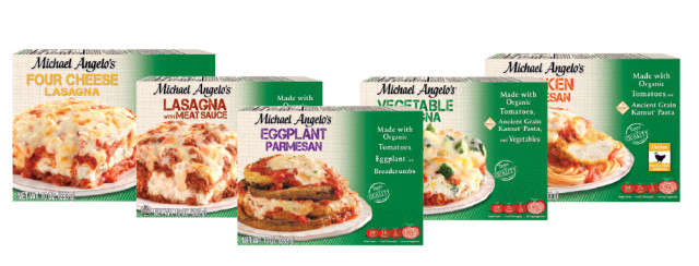 "Organic Frozen Dinners  Michael Angelo s Rolls Out New ""Made with Organic"" Frozen"