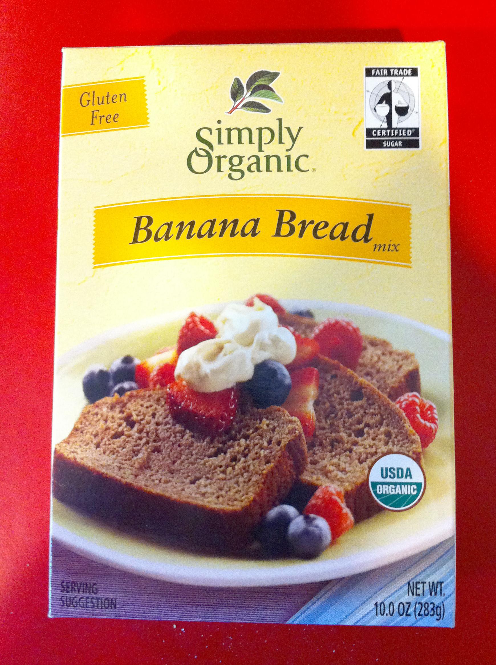 Organic Gluten Free Bread  Simply Organic Banana Bread box