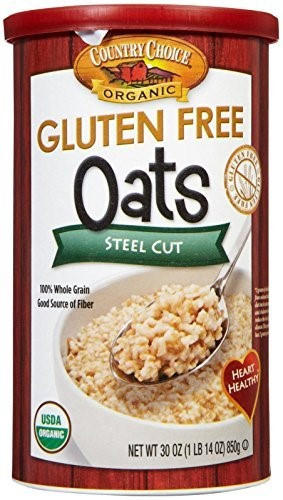 Organic Gluten Free Steel Cut Oats  Country Choice Organic Gluten Free Oats Steel Cut 30 oz