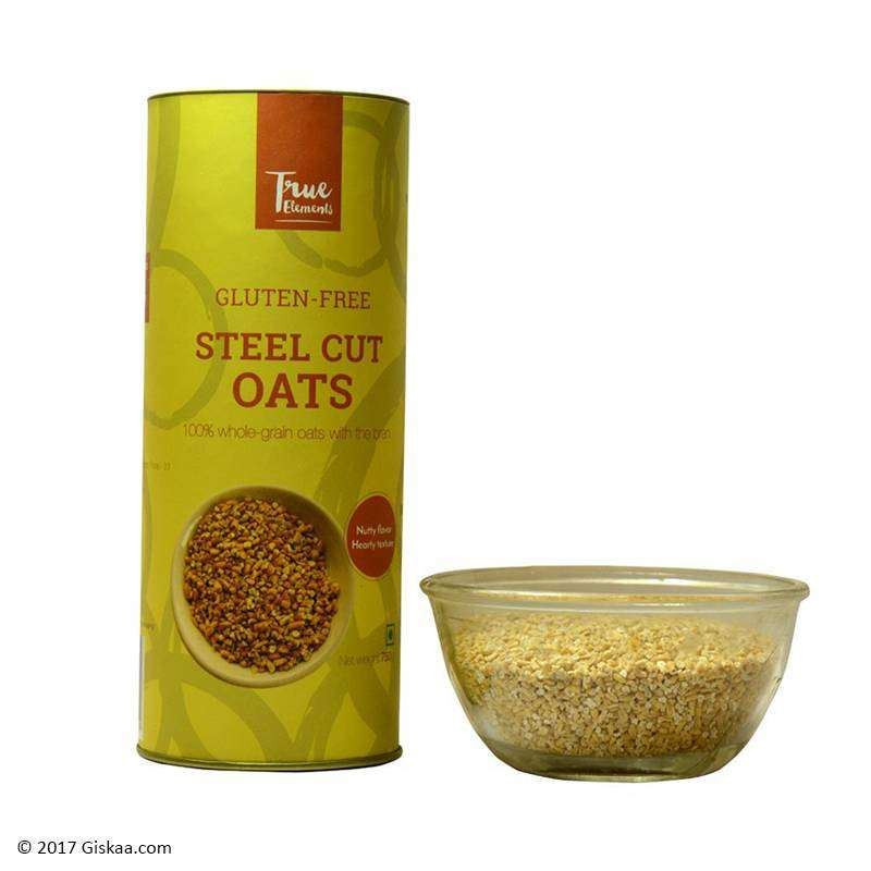 Organic Gluten Free Steel Cut Oats  Buy True Elements Gluten free Steel Cut Oats 750 gm at