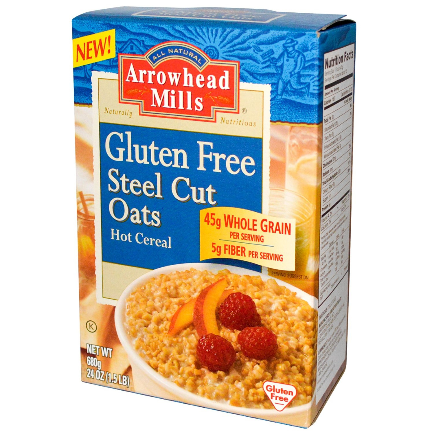Organic Gluten Free Steel Cut Oats  Arrowhead Mills All Natural Gluten Free Steel Cut Oats Hot