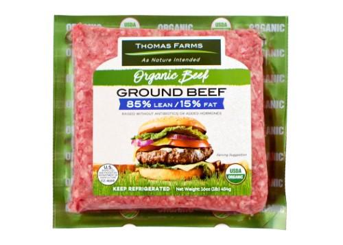 Organic Ground Beef  Thomas Farms USDA Organic Grass Fed Ground Beef Lean