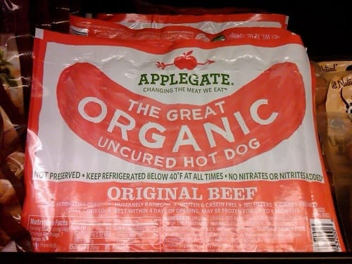 Organic Hot Dogs  Applegate Organic Beef Hot Dogs 2 Points LaaLoosh