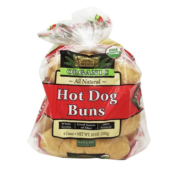Organic Hot Dogs  Alpine Valley Breads Organic Hot Dog Buns from Whole Foods