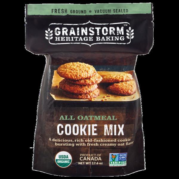 Organic Oatmeal Cookies  Organic Oatmeal Cookie Mix – GRAINSTORM