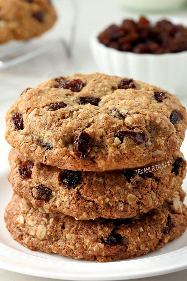 Organic Oatmeal Cookies  Whole Grain Chewy Oatmeal Raisin Cookies Texanerin Baking