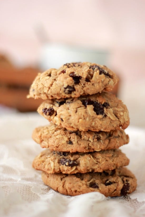 Organic Oatmeal Cookies  Oatmeal and Spiced Rum Raisin Cookies with Whole Wheat