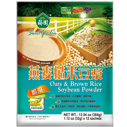 Organic Oats And Soybeans  Oats & Brown Rice Soybean Powder