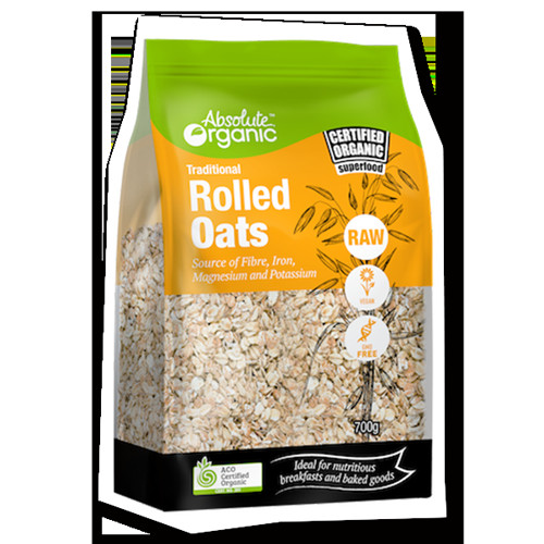 Organic Oats And Soybeans  Traditional Rolled Oats 700g