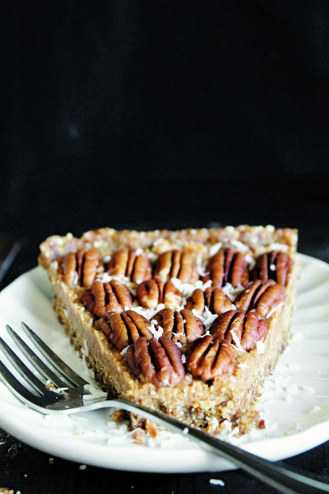 Organic Pecan Pie  Raw Vegan Maple Pecan Pie made with Dates Pecan and Coconut