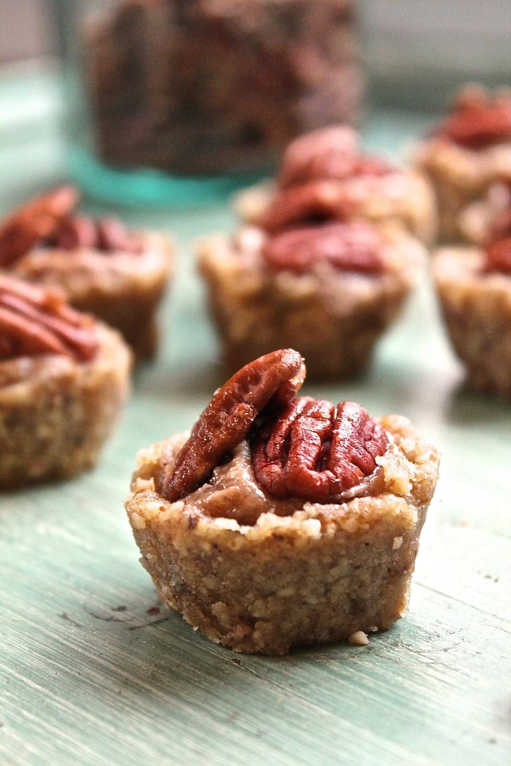 Organic Pecan Pie  Raw Pecan Tartlets