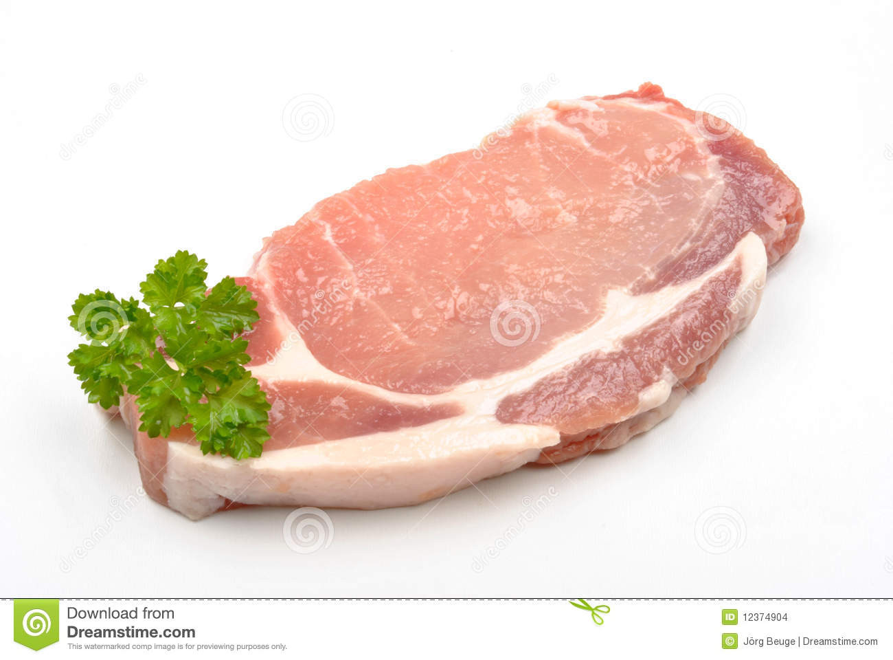 Organic Pork Chops  Raw Organic Pork Chop Stock Image